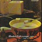 Fondue Cookery Alison Burt 1970 1971  ISBN 0600 334570