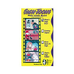 Sign-Toons with Linda Bove  That's Sign Folks  VHS