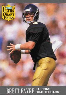 1991 fleer ultra brett favre 283 rookie card