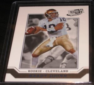 2007 Press Pass Signature Edition Brady Quinn #48 Rookie