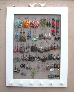 Cream Hand Painted Jewelry Display Rack