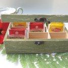 Green Tea Bag box Shabby Chic Home Decor