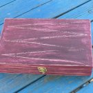 Tea box Bordeaux shabby chic home decor, tea bag storage, wooden tea box