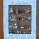 JEWELRY DISPLAY RACK Light Blue Shabby Chic, jewelry wall organizer