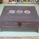 JEWELRY BOX Grey Color Boho Chic Home Decor with mini angels feet, necklaces storage