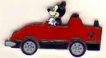 WDW Disney Hidden Mickey MICKEY MOUSE RED CAR Pin