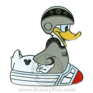 DONALD Rubber Duck Space Mountain Hidden Mickey Pin!