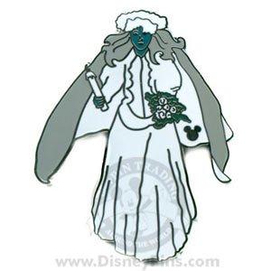 WDW - Cast Lanyard Hidden Mickey 2007 Series 2 - Ghost Bride
