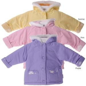 Weather Tamer Infant Girl's Reversible Sunrise Fleece Jacket