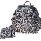 Toddot Black & White Backpack Diaper Bag