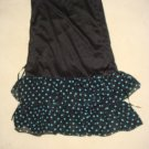 Black Green Ruffle tube strapless skirt top