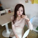 Pink Ruffled Knitwear Sweater Top
