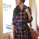 Checkered Pat Unbalance Blouse