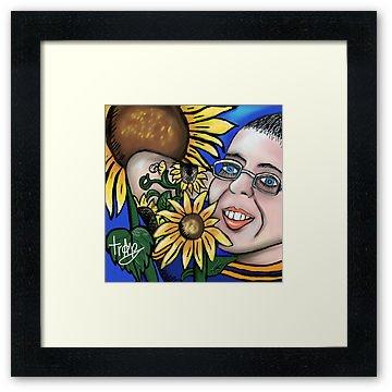 �My SunFlower Friend �  Framed Print