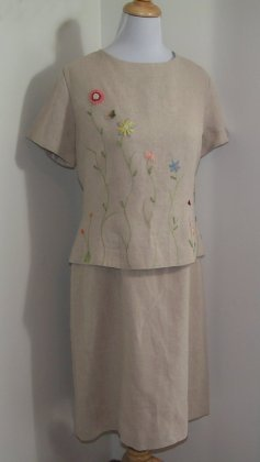 Linen Dress by Positive Attitude Size 16