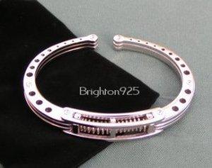 Stainless Steel SHOCK Spring Handcuff Bracelet