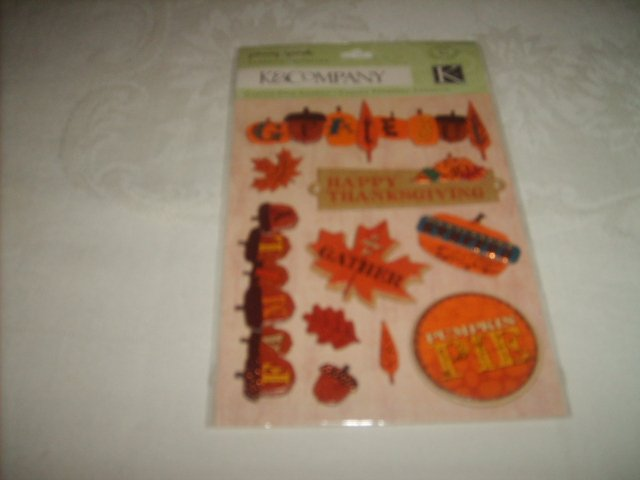 HAPPY THANKSGIVING (Stickers/Adhesive Chipboard)