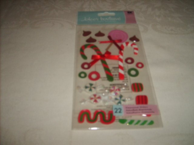 JOLEE'S BOUTIQUE  STICKERS   (  XMAS CANDY )
