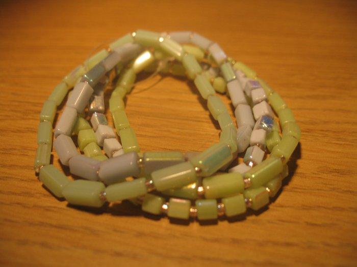 Set of seashell bead bracelets