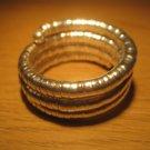 Silver spiral coil metal bangle