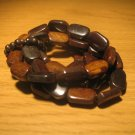 Set of wood bead bracelets