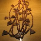 Wood and bone bead necklace