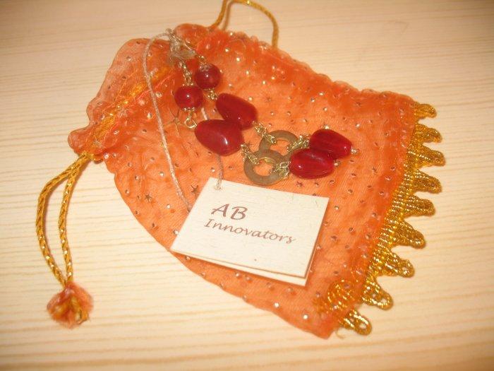 Red stone bead earrings (bundle of 10)