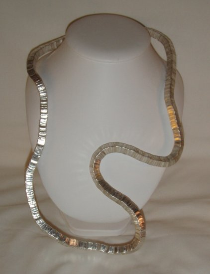 Square Twist Necklace in Silver