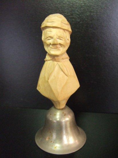 Handcarved Vintage Wood Bell