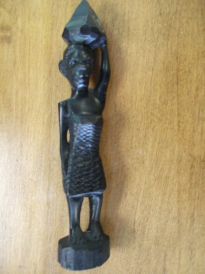 Small African Tribal Woman Handcarved