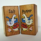 Large Wood Salt & Pepper Shakers
