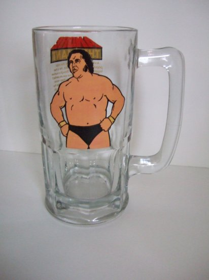 Andre The Giant WWF Large Drinking Glass