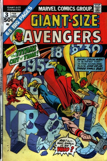 AVENGERS # 3 GIANT-SIZE ISSUE