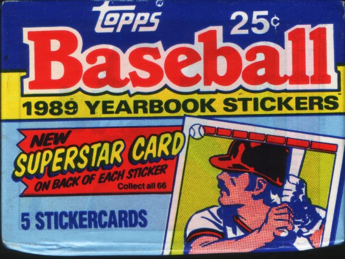 1989 Topps Yearbook Baseball Stickers  Packs