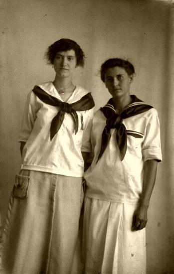 Vintage Sailer Girls Post Card