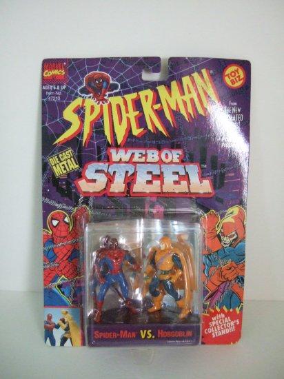 Marvel Comics Spiderman Web Of Steel Die cast Steel Poseable Figures
