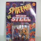 Marvel Comics Spiderman Web Of Steel Die cast Steel Poseable Figures