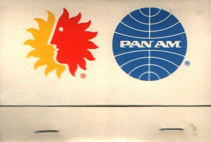 VINTAGE PAN AM AIRLINES MATCHBOOK