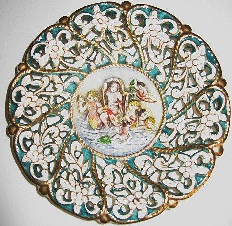 Vintage 1940's Ornate Ardalt Capotraforo Italian Decorative Plate