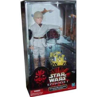 Anakin Skywalker Figure with Theed Hangar Droid, Helmet and Goggles