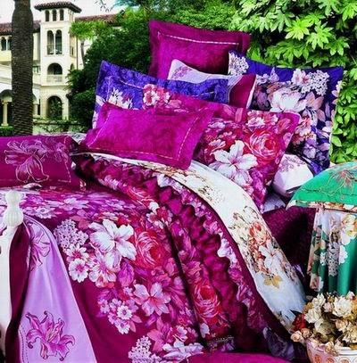 Ready-Room Bedroom Purple Rose-Queen