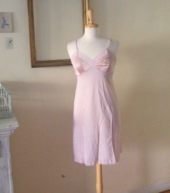 m dusty mauve vintage slip dress