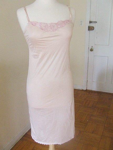 s blush pink slip dress