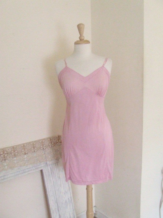 s candy pink slip dress
