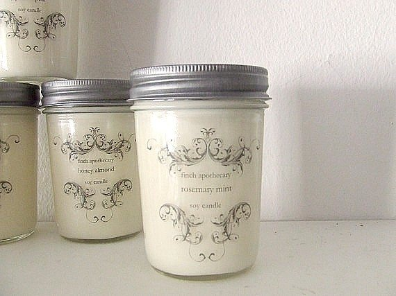 rosemary mint candle / 8 oz