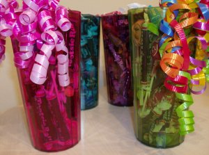 Tootsie Tumbler Candy Gift 4 Pack in Rainbow Colors
