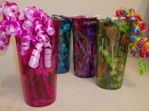 Tootsie Tumbler Candy Gift 4 Pack in Pink