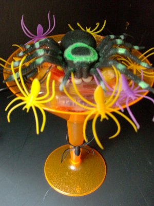Halloween Candy Scare-tini 4 Pack Favor Gift