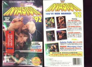 WWF Invasion 1992 SEALED Coliseum Video In Box WWE WWF WCW ECW TNA