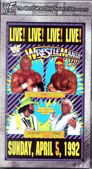 WWF WrestleMania 8 1992 Video SEALED WWE Ric Flair Savage WWF WCW ECW TNA WWE